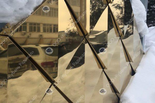 Фасадные панели под золото, сайдинг золото