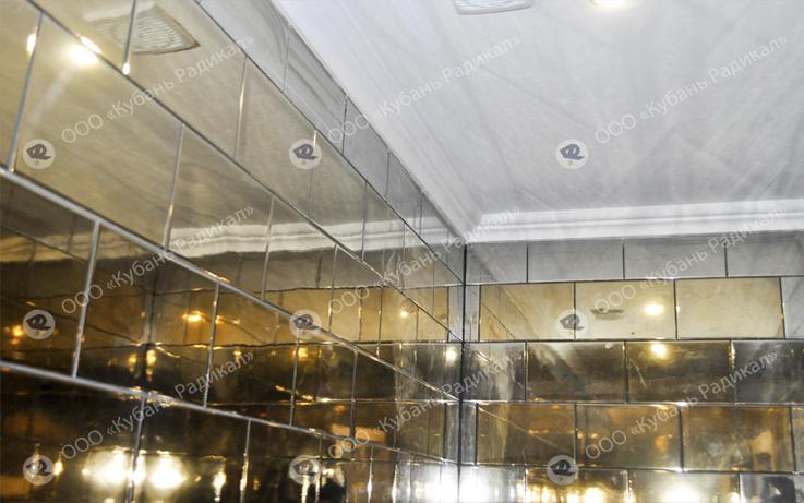 Плитка с зеркально золотым покрытием