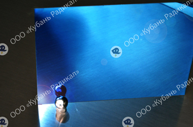 Оксид титана напыление на лист нержавеющей стали, синий цвет