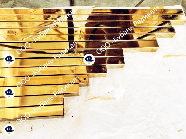 Напыление нитрид титана на профильную трубу
